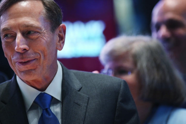 <p>Central Intelligence Agency Director David Petraeus walks the floor of the New York Stock Exchange to ring the Opening Bell as the CIA Commemorates it's 65th Anniversary on September 18, 2012 in New York City. He shocked the world just a month later with his resignation.</p>