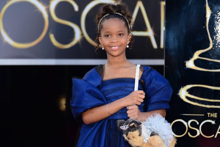 <p>Best Actress nominee Quvenzhané Wallis, 9, arrives on the red carpet for the 85th Annual Academy Awards on Feb. 24, 2013, in Hollywood.</p>