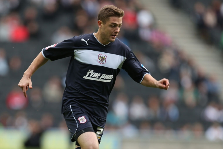 <p>Robbie Rogers, here playing for Stevenage on October 20, 2012 in England, admitted he was gay in a blog post on Feb. 15, 2013.</p>