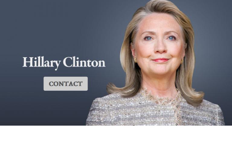 <p>The Hillary Clinton website.</p>
