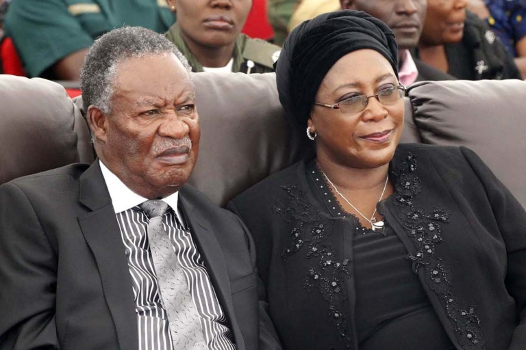 <p>Would-be dictator? President Michael Sata and his wife Dr. Christine Kaseba.</p>