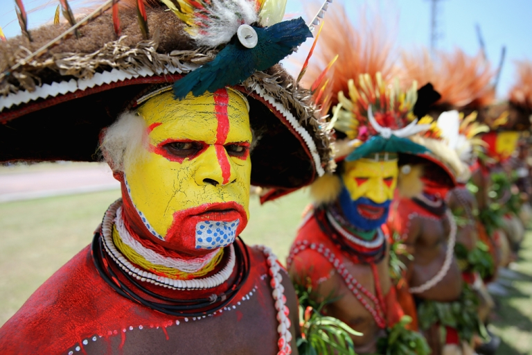 <p>Dancers in Port Moresby, Papua New Guinea.</p>