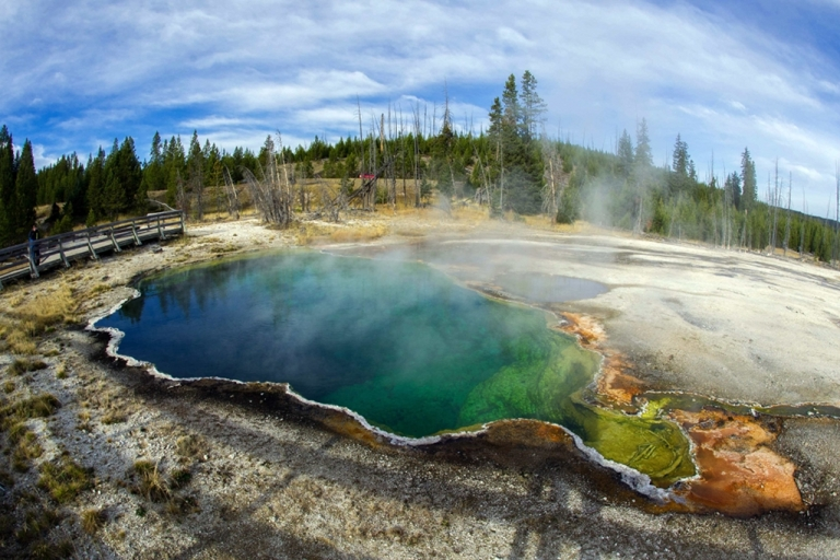 <p>The Abyss geothermal pool is seen Oct. 8, 2012 in Yellowstone National Park in Wyoming. Yellowstone protects 10,000 or so geysers, mudpots, steam vents, and hot springs. Funding for national parks could be drastically cut by the automatic spending cuts that would be enforced if a deficit-reduction plan is not passed in time.</p>