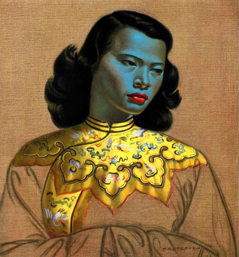 <p>Reproductions of the 'Chinese Girl' portrait adorn millions of sitting-room walls around the world.</p>