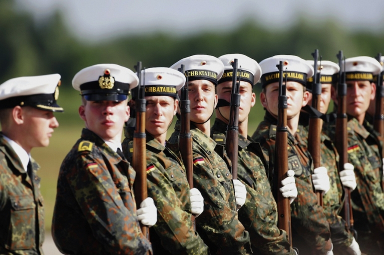 <p>Soldiers with an elite military battalion in German have reported a surprising medical condition - man boobs. Experts say thumping rifles against their chests during drills is stimulating the production of hormones that cause breast growth.</p>
