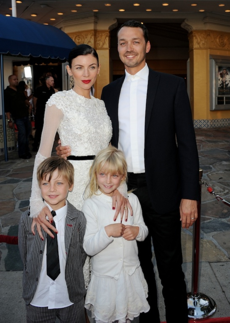 <p>Happier times. This picture taken on May 29, 2012, two months before news of the affair broke, shows Sanders and Ross with their two children, Tennyson and Skyla, at a screening of 'Snow White and The Huntsman' in Los Angeles.</p>