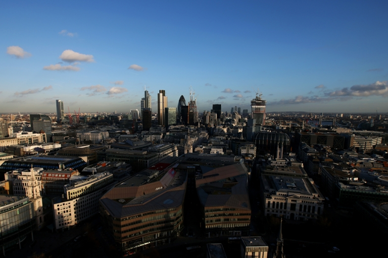 <p>A general view across London from the Golden Gallery at St Paul's Cathedral. The new HS2 rail line will connect London with cities in Northern England.</p>