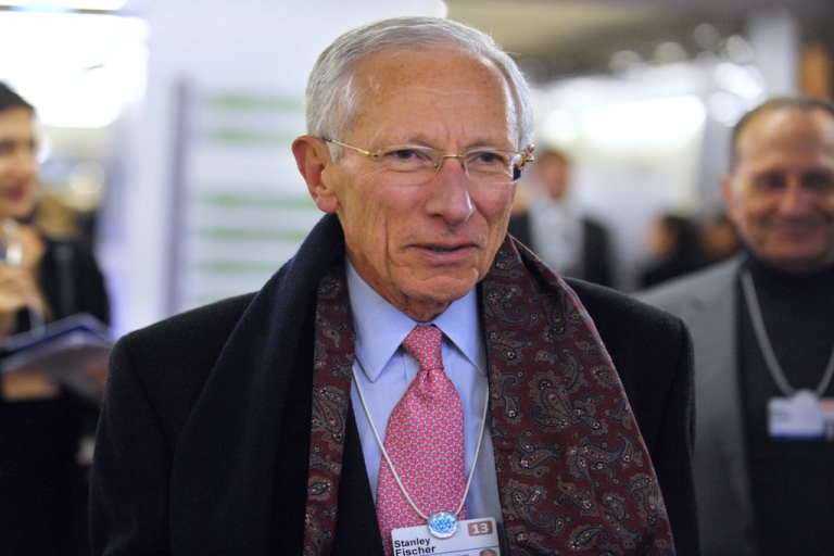 <p>The governor of the Central Bank of Israel, Stanley Fischer, arrives to attend a session at the congress center of the World Economic Forum in Davos, on Jan. 25, 2013. Stanley Fischer is stepping down as governor on June 30, 2013.</p>