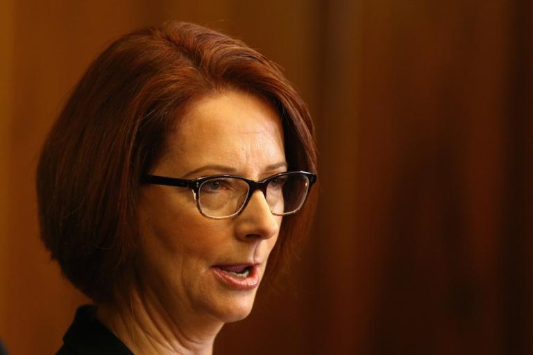 <p>Australian Prime Minister Julia Gillard. (Cameron Spencer/AFP/Getty Images News)</p>