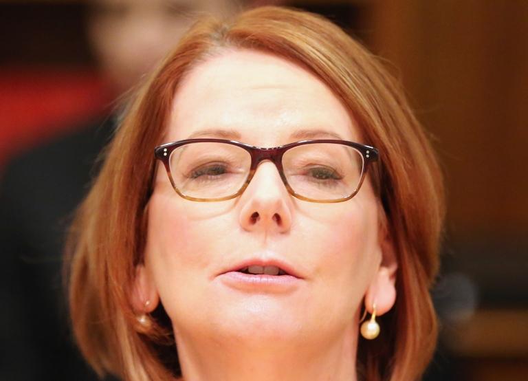 <p>Australian Prime Minister Julia Gillard speaks June 7, 2013 in Melbourne, Australia.</p>