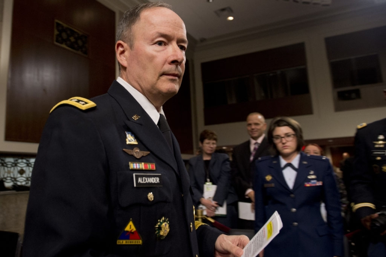 <p>General Keith Alexander, director of the National Security Agency (NSA), commander of the US Cyber Command and chief of the Central Security Service, on Capitol Hill in Washington, DC, June 12, 2013. Alexander is testifying again today.</p>