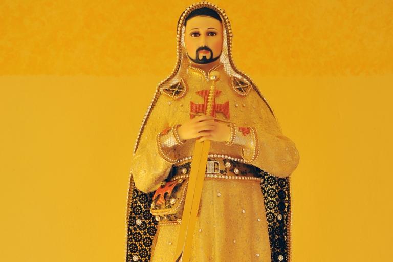 <p>A statue of Nazario Moreno as