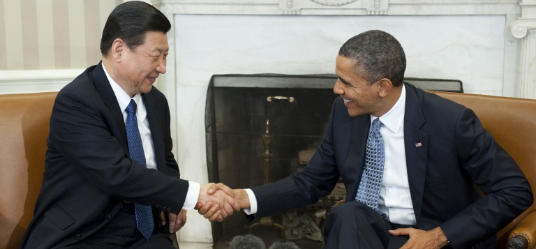 <p>US President Barack Obama shakes hands with his Chinese counterpart Xi Jinping, who was then China's vice president in his February 2012 visit to Washington.</p>