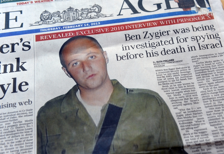 <p>Australian newspapers led their front pages in Australia with the story of Ben Zygier after Israel confirmed it jailed a foreigner in solitary confinement on security grounds who later committed suicide, with Australia admitting it knew one of its citizens had been detained.</p>