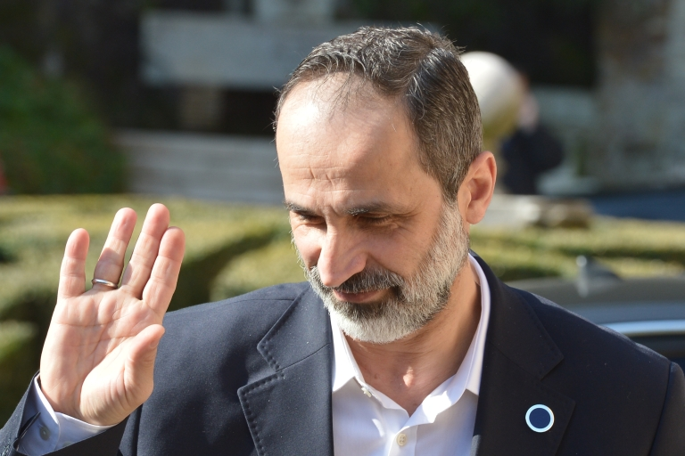 <p>Moaz al-Khatib, head of Syria's opposition in exile, stepped down Sunday in a surprise resignation. Details as to why he resigned remain unclear.</p>