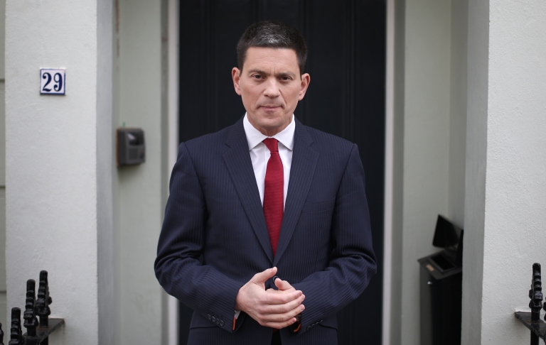 <p>Former Foreign Secretary David Miliband at his home on March 27, 2013 in London, England.</p>