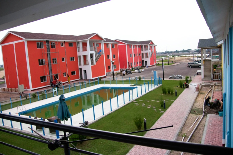 <p>The City of the River development project in Kinshasa, Congo, will house members of Kinshasa's expanding upper class. The new development includes swimming pools, schools, grocery stores and a sports complex.</p>