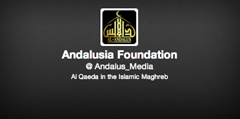 <p>A screengrab of the Al-Andalus Media Foundation twitter account on March 29, 2013.</p>