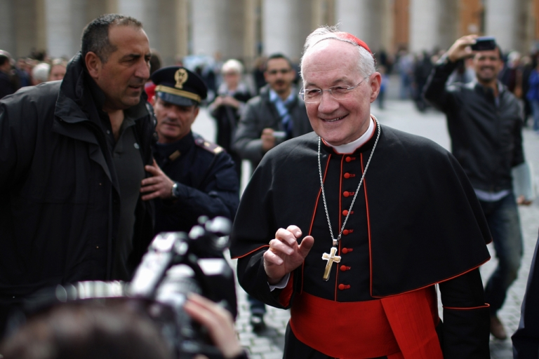 <p>Canadian Cardinal Marc Ouellet is photographed at the Vatican on March 11.</p>