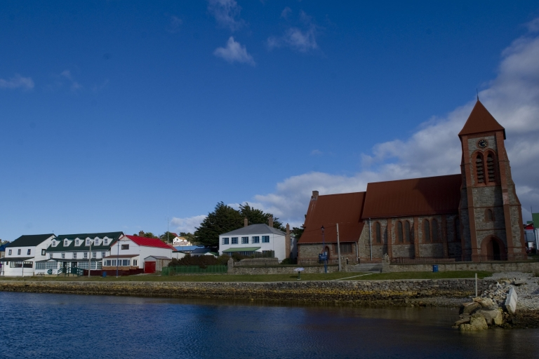 <p>Port Stanley in the Falkland Islands. Borges compared the rivalry over the islands to a