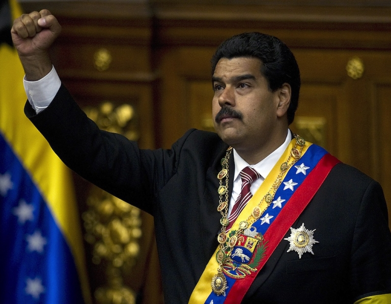 <p>Nicolas Maduro was sworn in on April 19, 2013 and succeeds the late Hugo Chavez who died of cancer in March.</p>