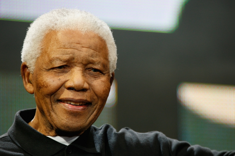 <p>Former South African President Nelson Mandela in 2008.</p>
