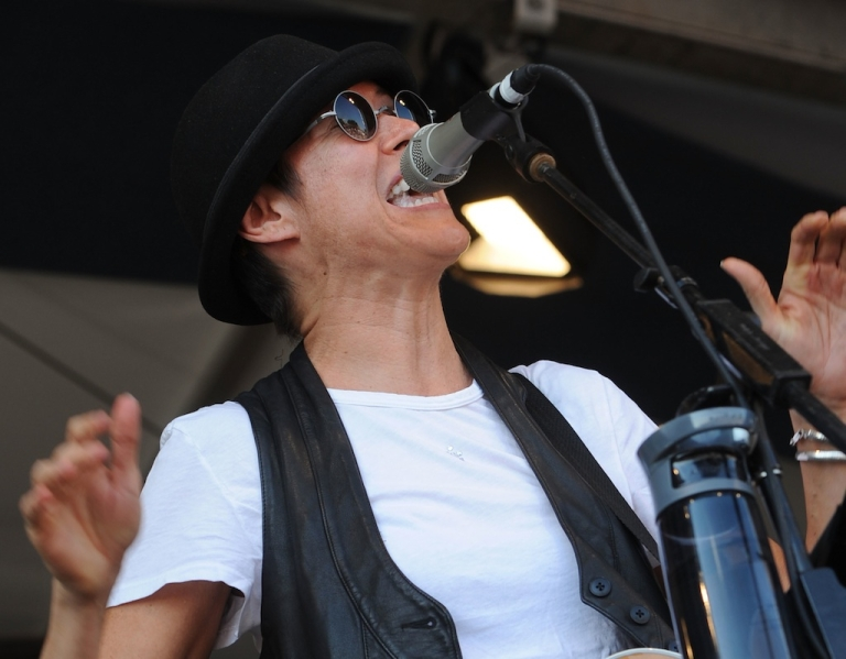 <p>Michelle Shocked performs during the 2011 New Orleans Jazz &amp; Heritage Festival - Day 4 presented by Shell at The Fair Grounds Race Course on May 5, 2011 in New Orleans, Louisiana.</p>