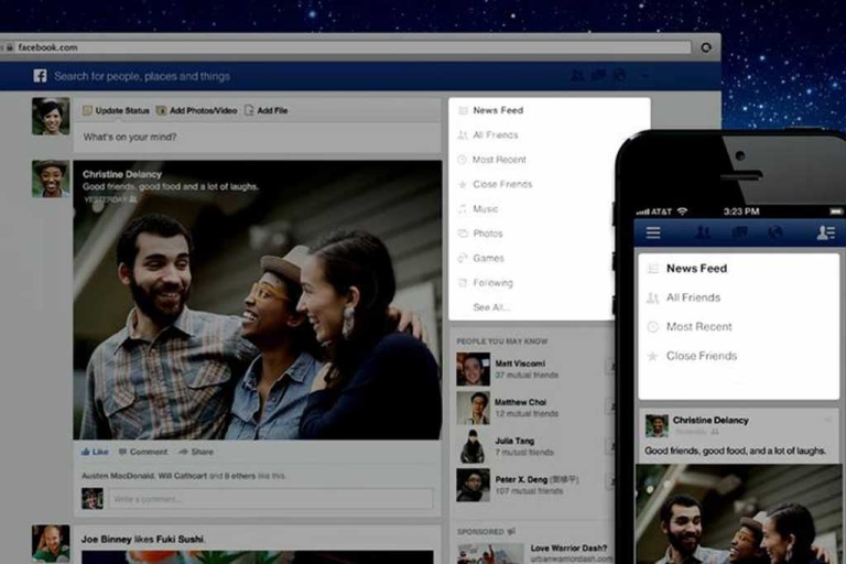 <p>The major redesign of Facebook's News Feed features bigger images, multiple feeds and is modeled after the social network's mobile app.</p>