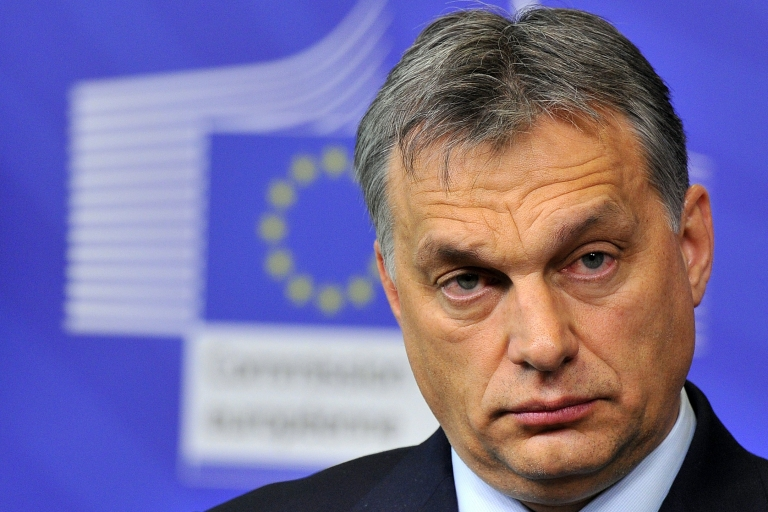 <p>Unfazed: EU warnings have failed to stop Orban's drive to reshape his country.</p>
