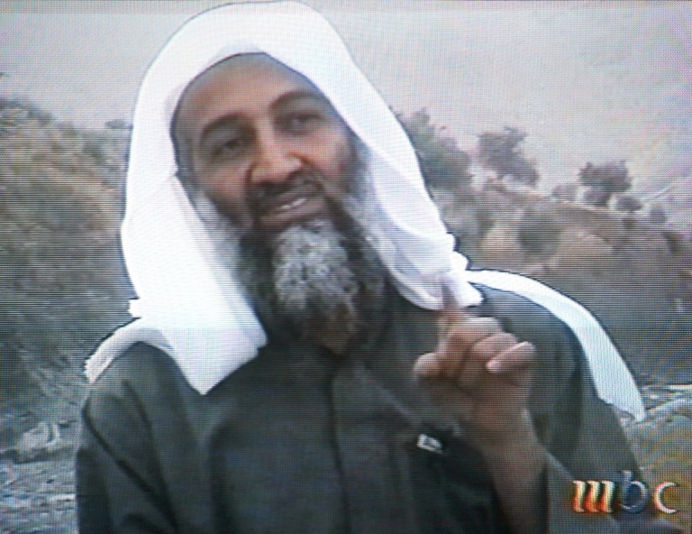 <p>a US Appeals court ruled photos that show Osama bin Laden after his death can stay secret. This frame grab from the Saudi-owned television network Middle East Broadcasting Center shows alleged terror mastermind Osama bin Laden gesturing an undated videotape broadcast by the Dubai-based MBC 17 April 2002.</p>