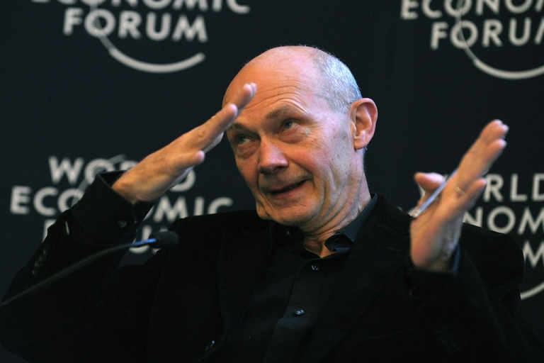 <p>World Trade Organization (WTO) General director Pascal Lamy attends a session at the World Economic Forum in Davos on Jan. 26, 2013.</p>