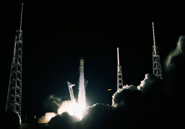 <p>The SpaceX Dragon capsule splashed down in the Pacific Ocean Tuesday morning after a successful trip back from the International Space Station.</p>