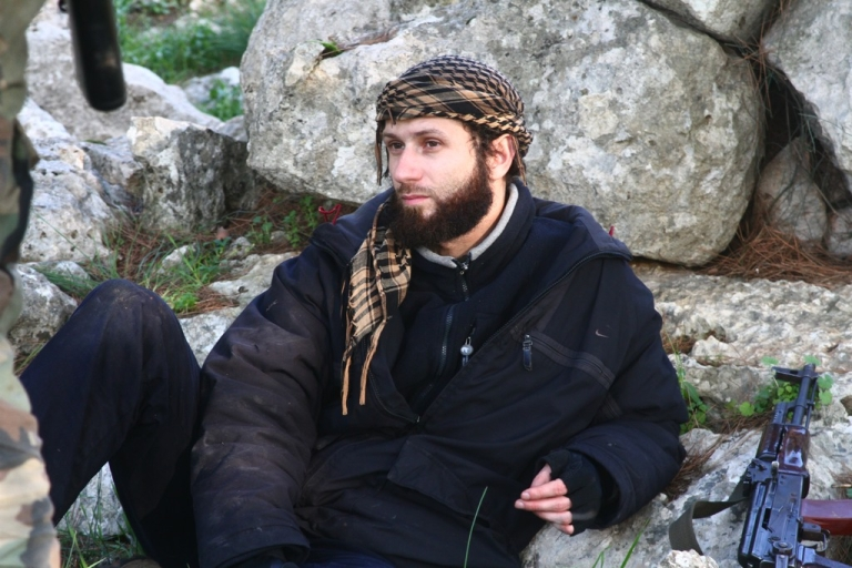<p>A photo taken in February of Ayachi Abdel Rahman, a brigade commander for Suquar al-Sham, an Islamist rebel group in Syria. Abdel Rahman is facing charges of terrorism in a Belgian court, but he says he is innocent. He is beloved among Syrians, who say he is helping to protect them from the government of President Bashar al-Assad.</p>
