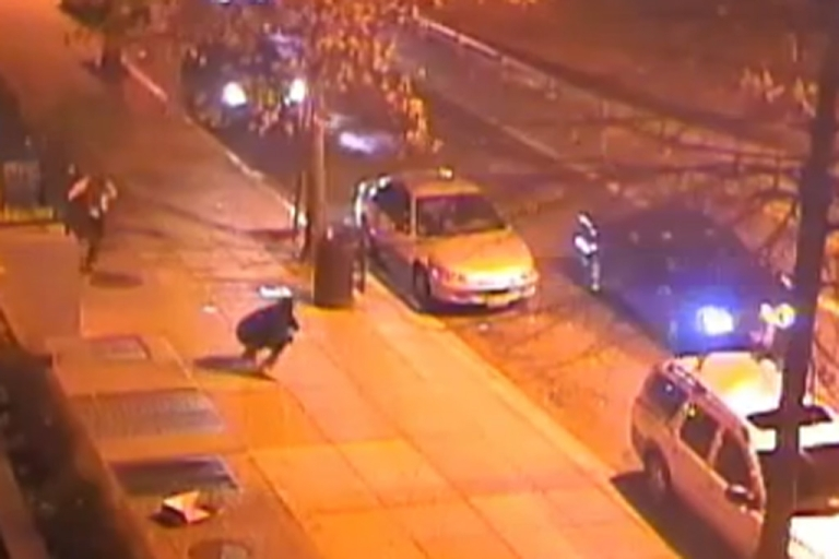 <p>Police are searching for suspects after a drive-by shooting on Monday, March 11, 2013 injured 12 people. The shooting happened about a block from the Capitol Building.</p>