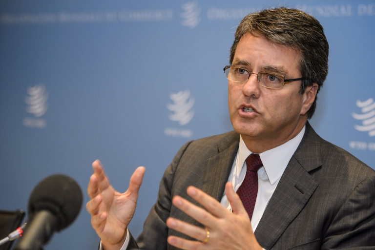 <p>Brazil's Roberto Azevedo wins the leadership of the World Trade Organization, the Brazilian government announced. Azevedo, currently Brazil's ambassador to the 159-nation WTO, won out over the former Mexican trade chief Herminio Blanco.</p>