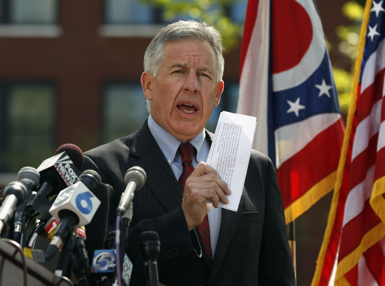 <p>Cuyahoga County Prosecutor Timothy J. McGinty speaks during a press conference on May 9, 2013 in Cleveland, Ohio.</p>