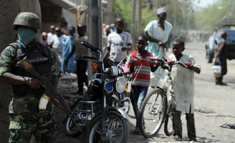 <p>Nigeria's military has been unable to stop Boko Haram.</p>