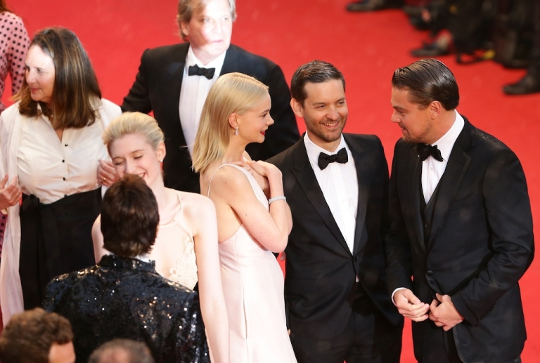 <p>CANNES, FRANCE - MAY 15: (L-R) Carey Mulligan, Tobey Maguire and Leonardo DiCaprio attend the Opening Ceremony and 'The Great Gatsby' Premiere during the 66th Annual Cannes Film Festival at the Theatre Lumiere on May 15, 2013 in Cannes, France.</p>