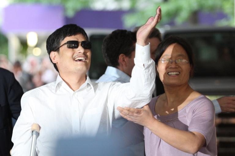 <p>Chinese activist Chen Guangcheng at New York University on May 19, 2012.</p>