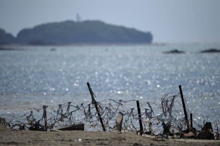 <p>The US Marine Corps facilities of Camp Schwab near the city of Nago in Okinawa prefecture. This week Chinese state-run media published a lengthy article questioning Japan's right to the Okinawa archipelago.</p>
