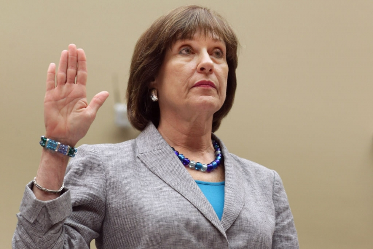 <p>Internal Revenue Service Director of Exempt Organizations Lois Lerner is sworn in before testifying to the House Oversight and Government Reform Committee May 22, 2013 in Washington, DC. The committee is investigating allegations that the IRS targeted conservative non-profit organizations with the words