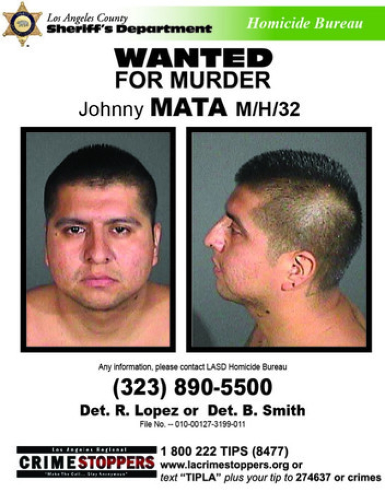 <p>The Los Angeles County Sheriff's office accidentally released murder suspect Johnny Mata and is asking for the public's help in finding him.</p>