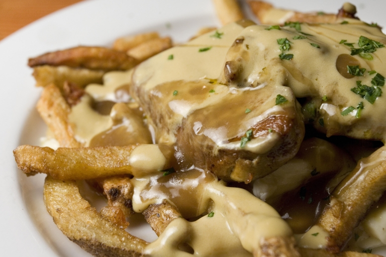 <p>Poutine (or chips, cheese and gravy) has become a soda flavor thanks to Jones Soda in Seattle. It's only available in Canada in limited release.</p>