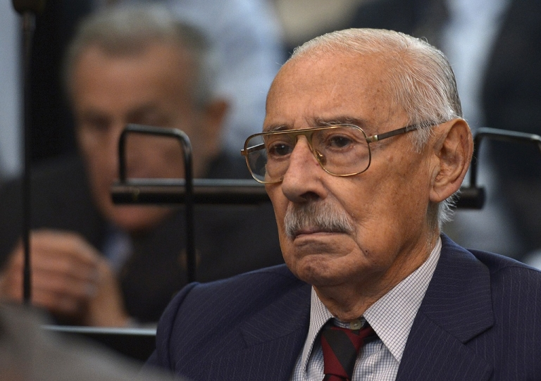 <p>Former Argentine dictator and general, Rafael Videla, is seen during his trial to investigate the crimes committed during Operation Condor, a campaign established by Argentina, Chile, Paraguay, Brazil, Bolivia and Uruguay's dictatorships to quash the opposition during the 1970s, in Buenos Aires on March 5, 2013. Argentina's junta, which Videla led from 1976-81, is held responsible for the disappearance of up to 30,000 people during the so-called 'Dirty War' against political opponents. Videla, Bignone and Menendez are among the 26 defendants. Jorge Rafael Videla passed away in Argentina on May 17, 2013 at the age of 87.</p>