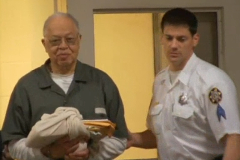<p>Police lead Dr. Kermit Gosnell into a waiting police car Monday, May 13, 2013, in Philadelphia after a jury found him guilty of murder.</p>
