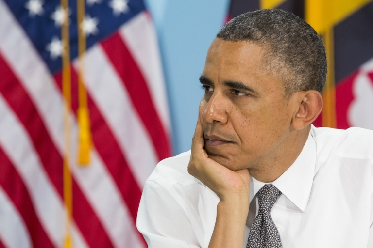 <p>Why so serious, Obama? Your approval rating's holding steady!</p>