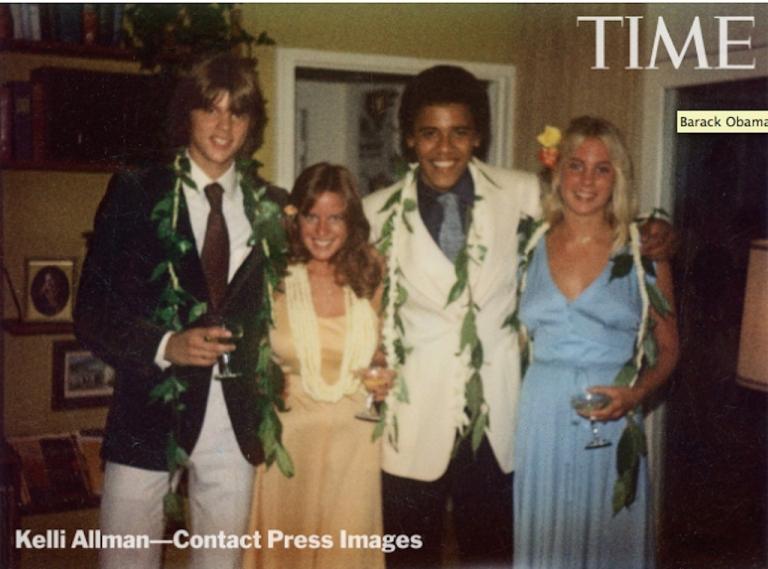 <p>Obama at prom, circa 1979.</p>