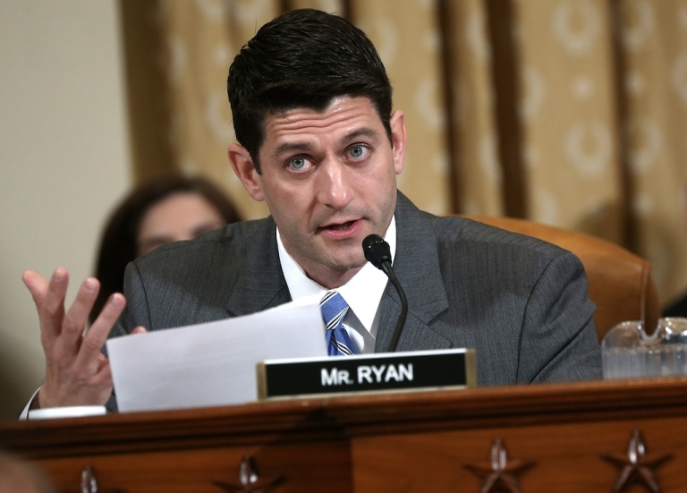 <p>US Rep. Paul Ryan speaks during a hearing before the House Ways and Means Committee May 17, 2013 on Capitol Hill in Washington, DC. Ryan is writing a book to be released next year, prompting rumors of a presidential run.</p>
