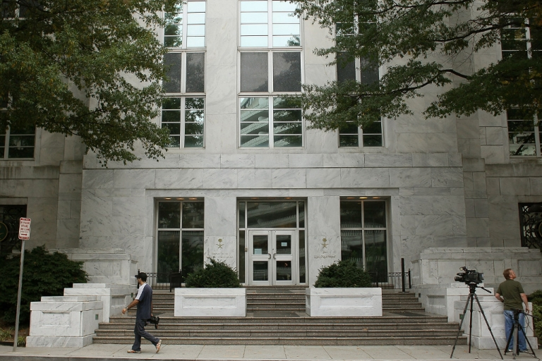 <p>The Saudi embassy is shown on Oct. 11, 2011 in Washington, DC.</p>