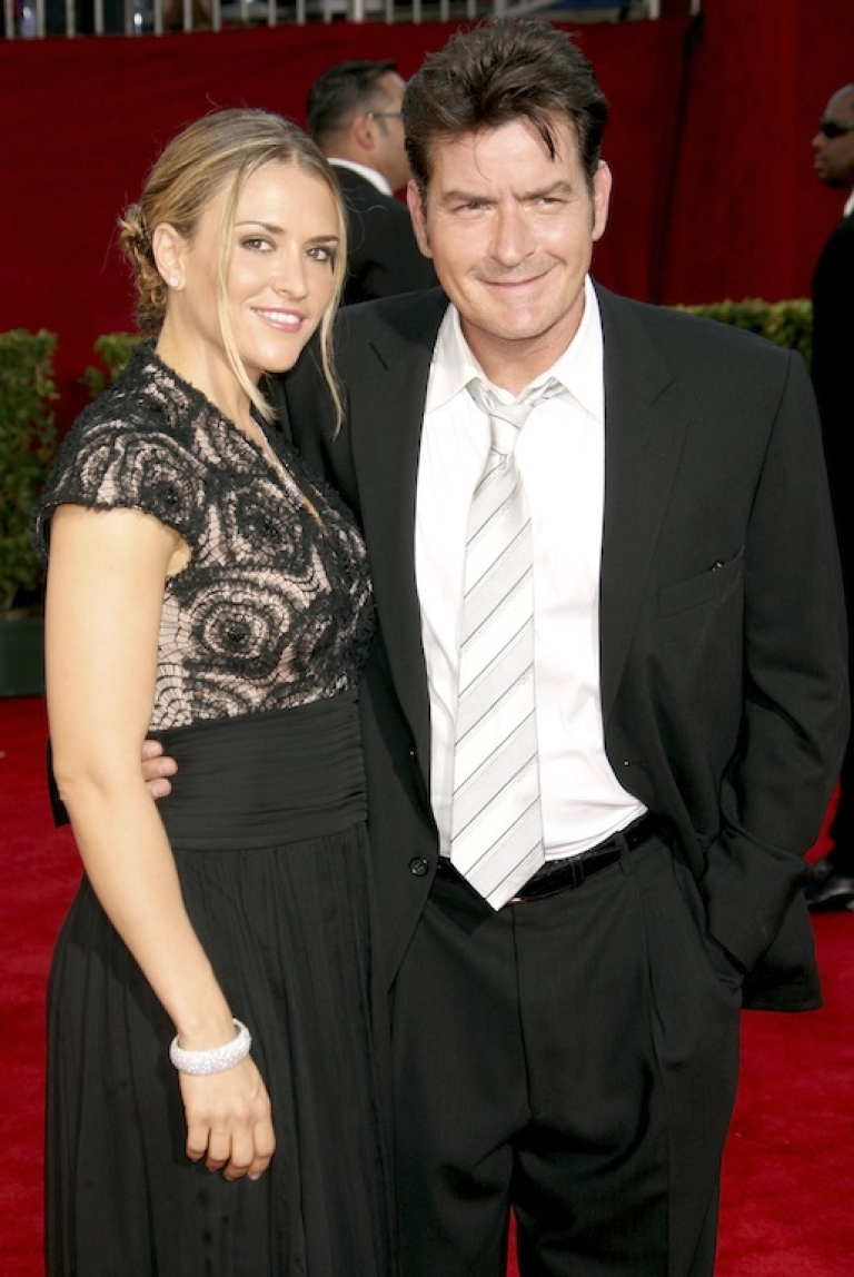 <p>Happier times: Charlie Sheen and his then wife, Brooke Mueller, arrive at the 61st Primetime Emmy Awards at the Nokia Theatre in Los Angeles on September 20, 2009.</p>